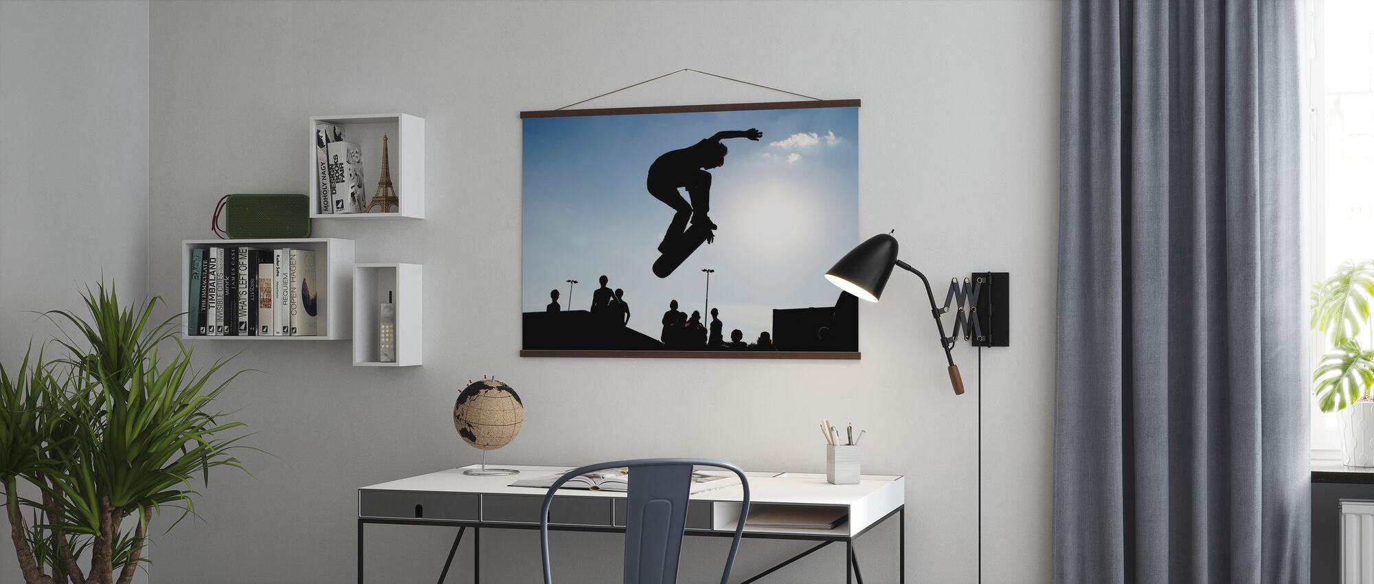 Skateboard Jump - Poster - Kantoor