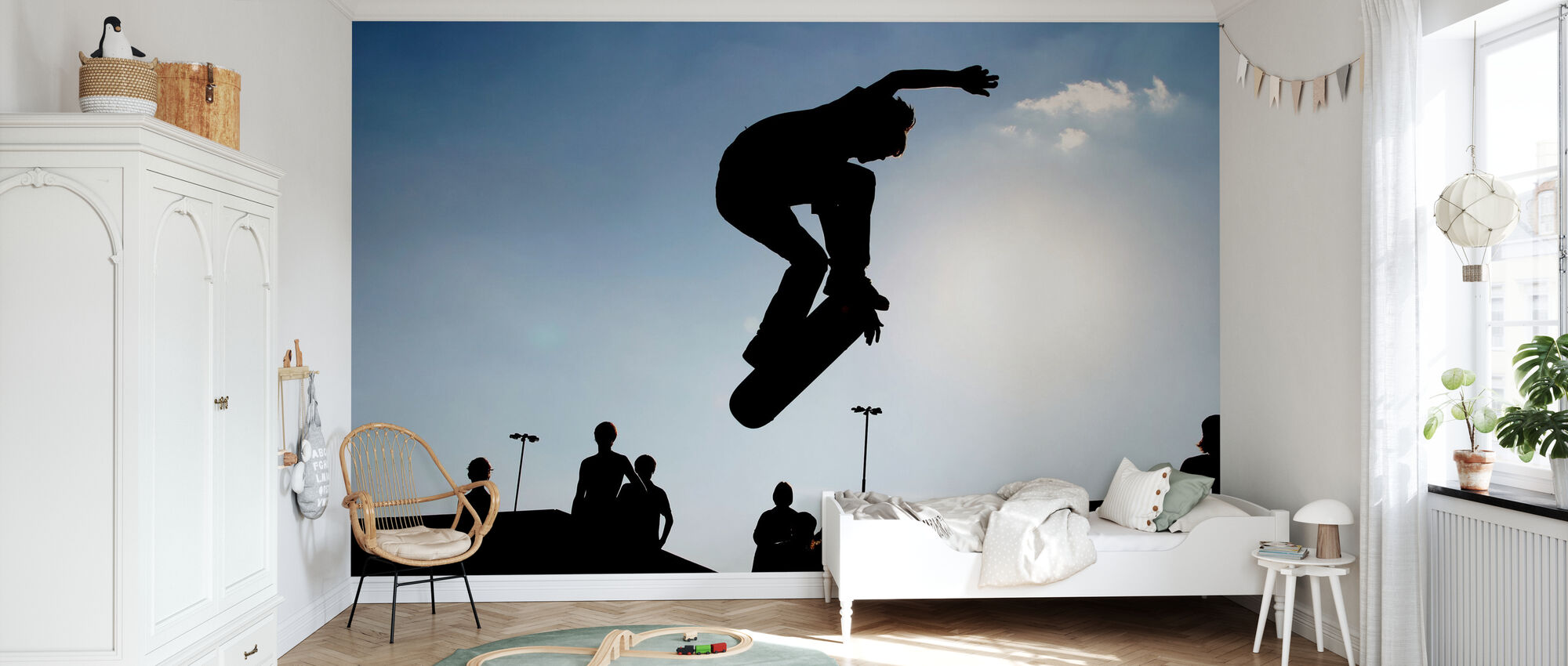 Skateboard Jump - Wallpaper - Kids Room