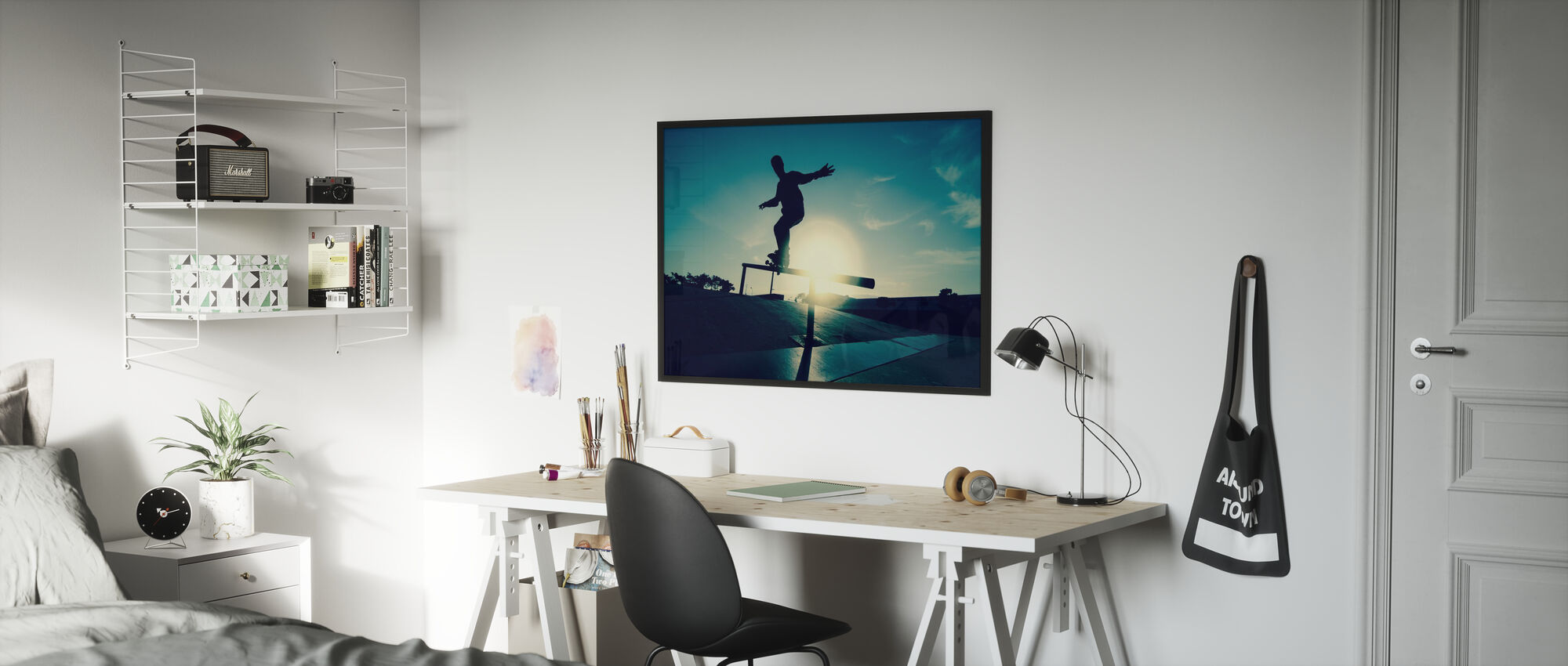 Skateboarder on a Grind - Framed print - Kids Room