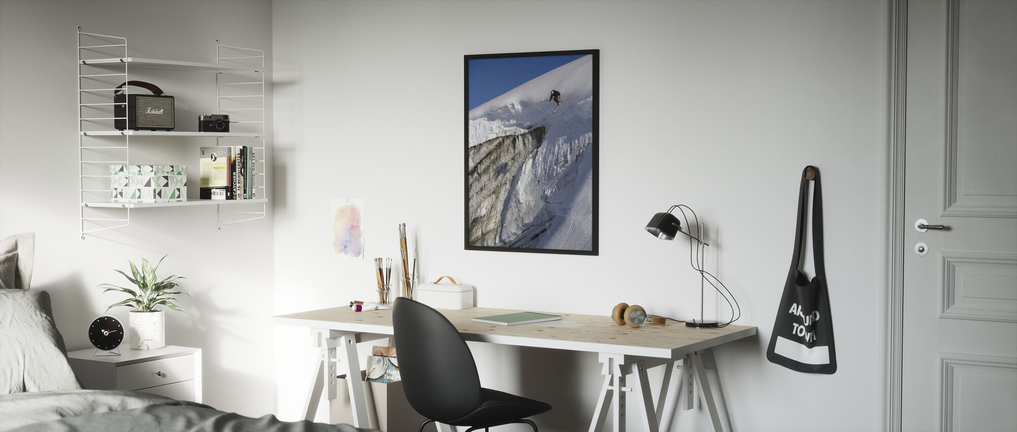 Skiing on the Apussuit Glacier - Poster - Kids Room