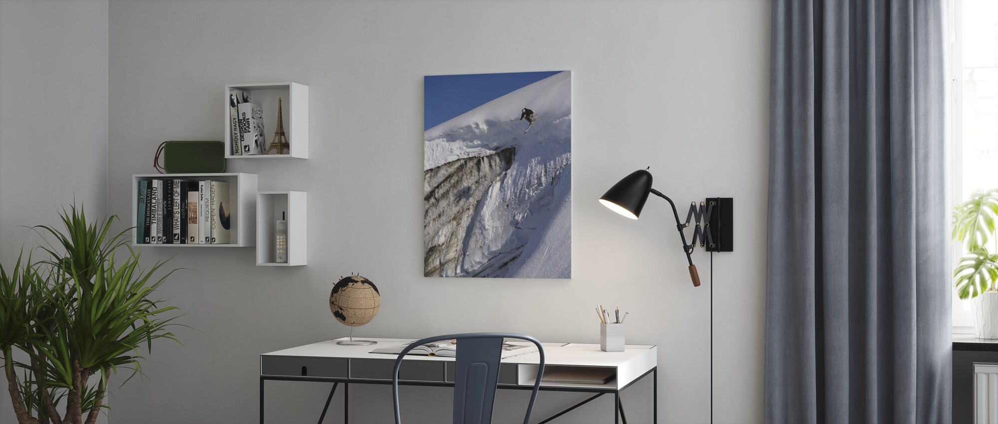 Skiing on the Apussuit Glacier - Canvas print - Office