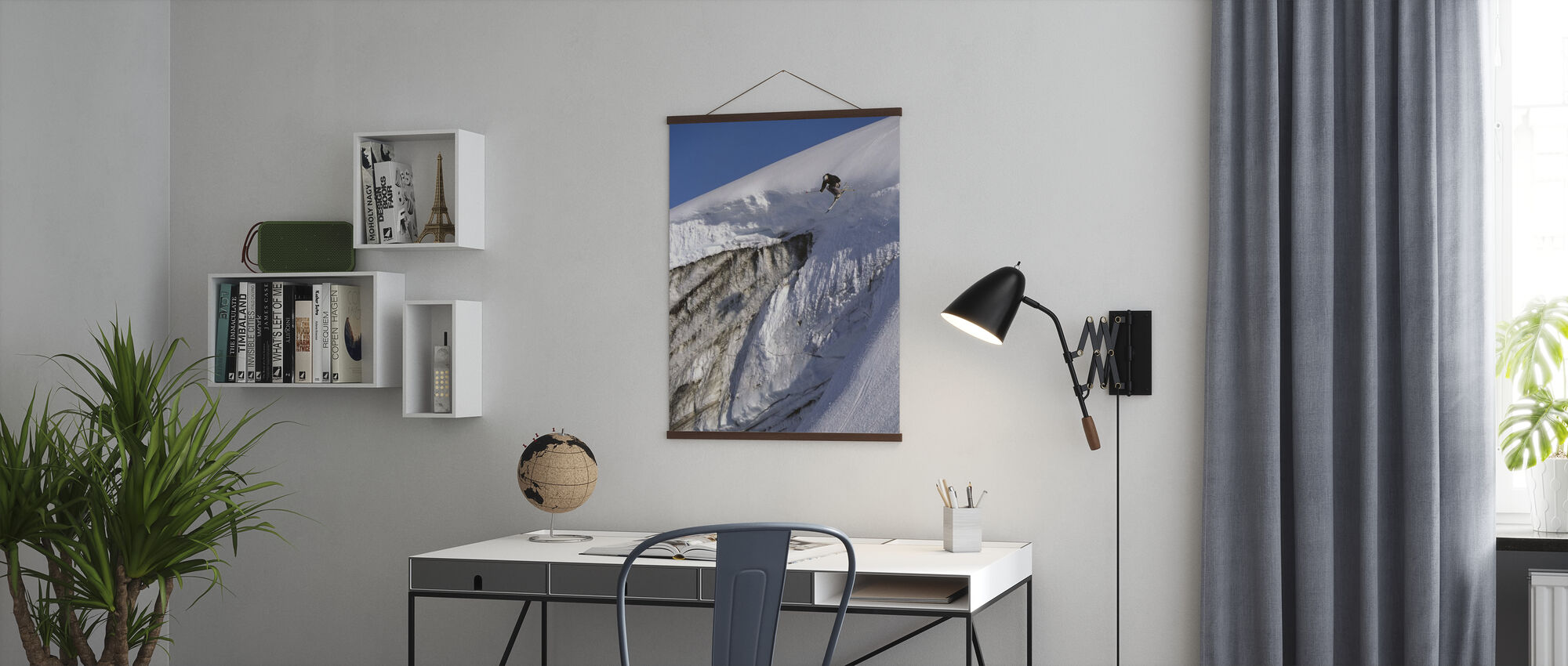 Skiing on the Apussuit Glacier - Poster - Office