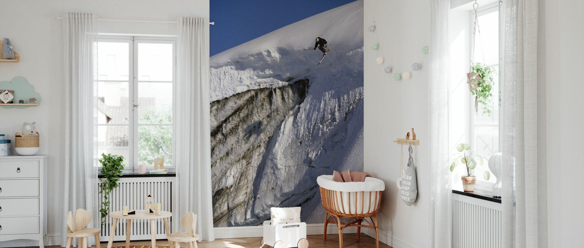 Skiën op de Apussuit gletsjer - Behang - Babykamer