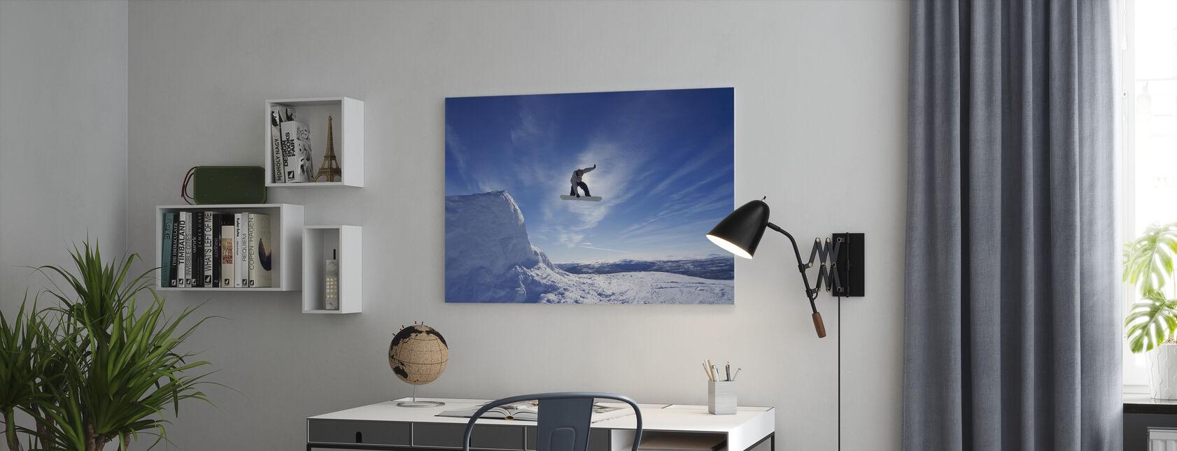 Snowboard Big Air Jump - Canvas print - Kantoor