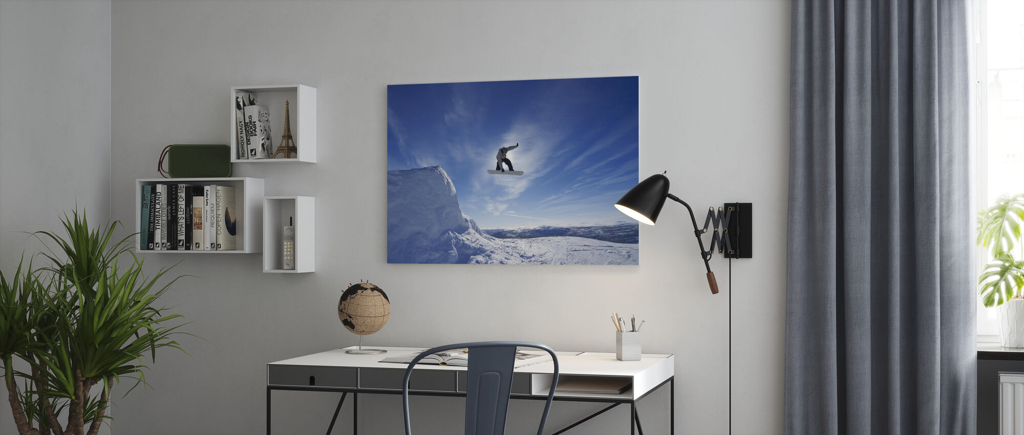 Snowboard Big Air Jump - Canvas print - Office