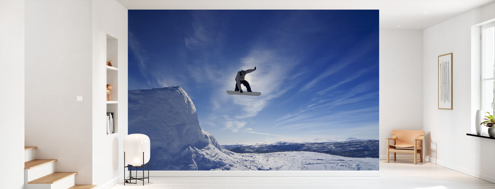 Snowboard Big Air Jump - Wallpaper - Hallway