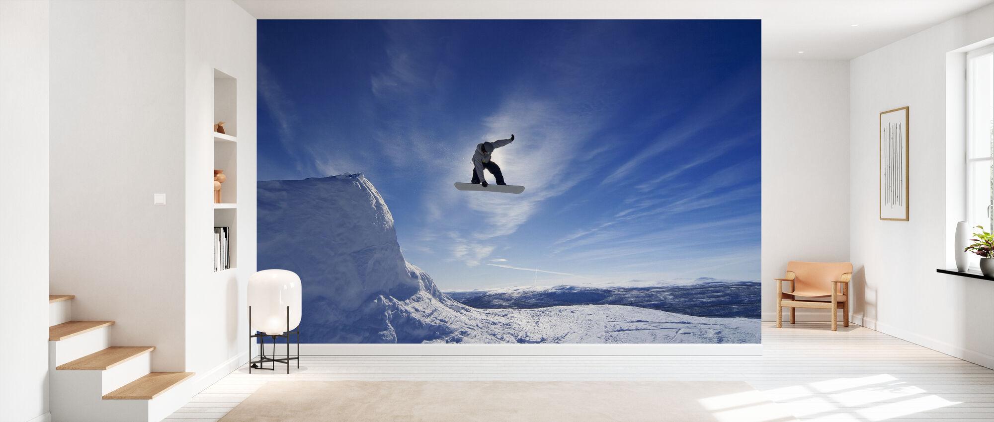 Snowboard Big Air Jump - Wallpaper - Hallway