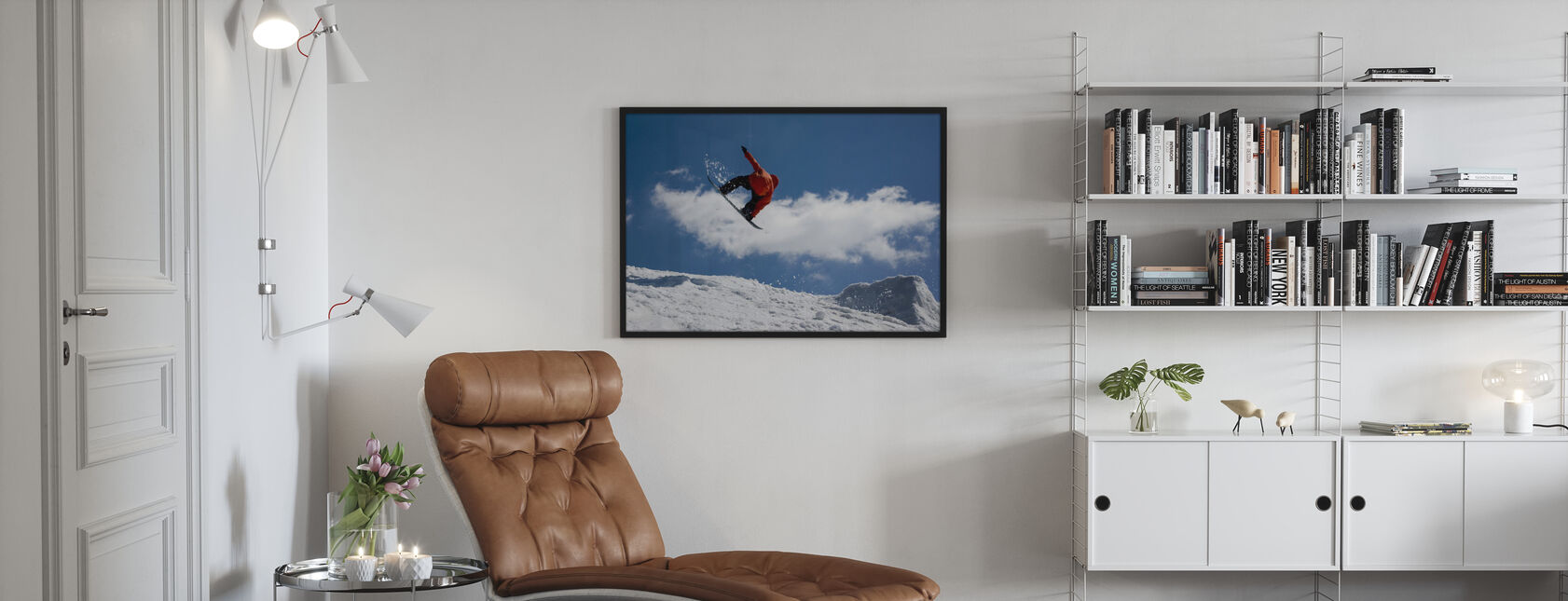 Snowboard Jump from Ramp - Poster - Living Room