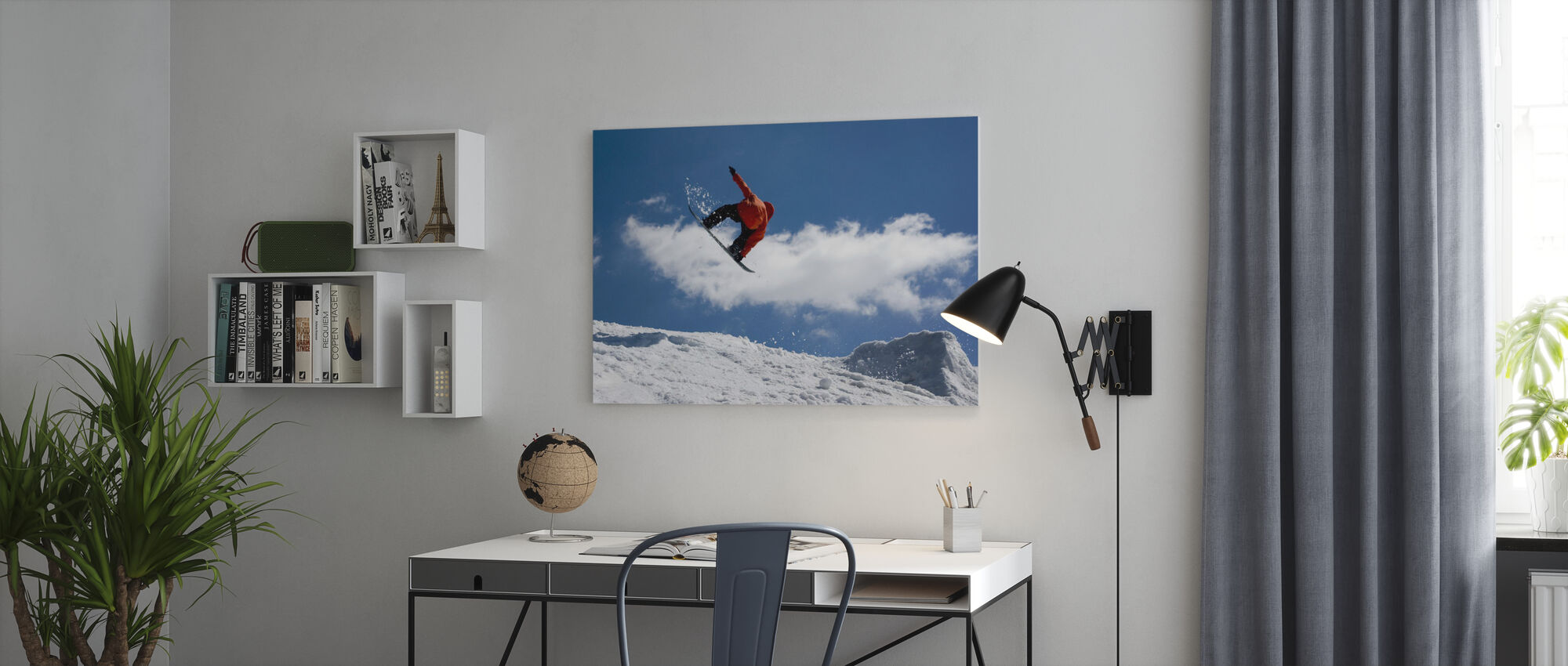 Snowboard Jump from Ramp - Canvas print - Office