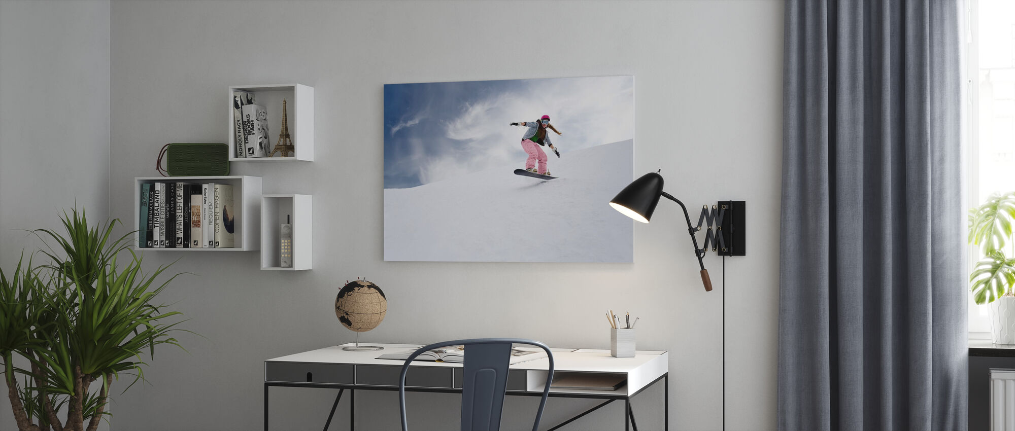 Snowboard Rider - Canvas print - Office
