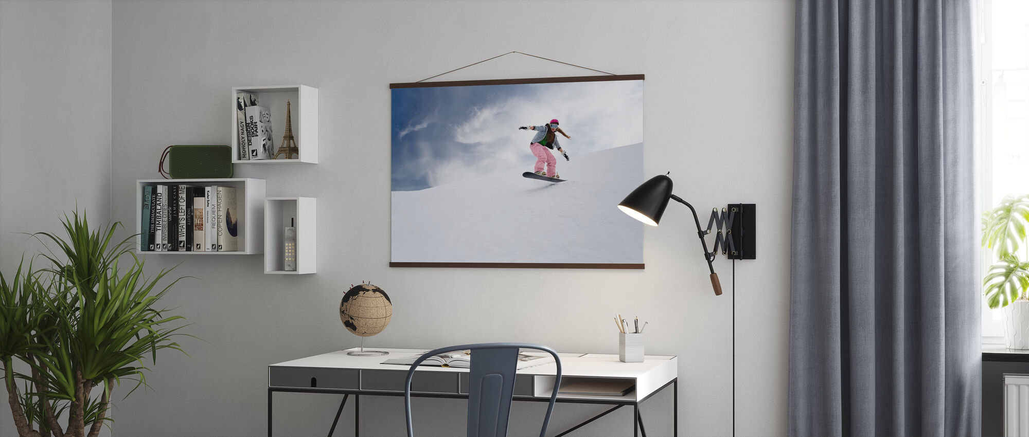 Snowboard Rider - Poster - Office