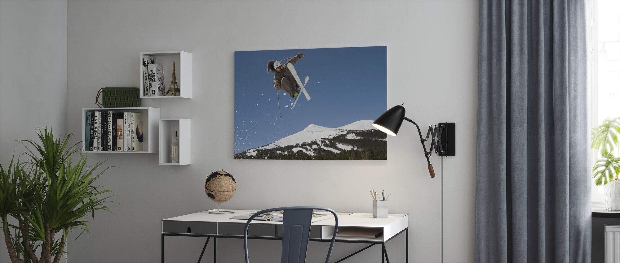 Superpipe skiløper - Lerretsbilde - Kontor