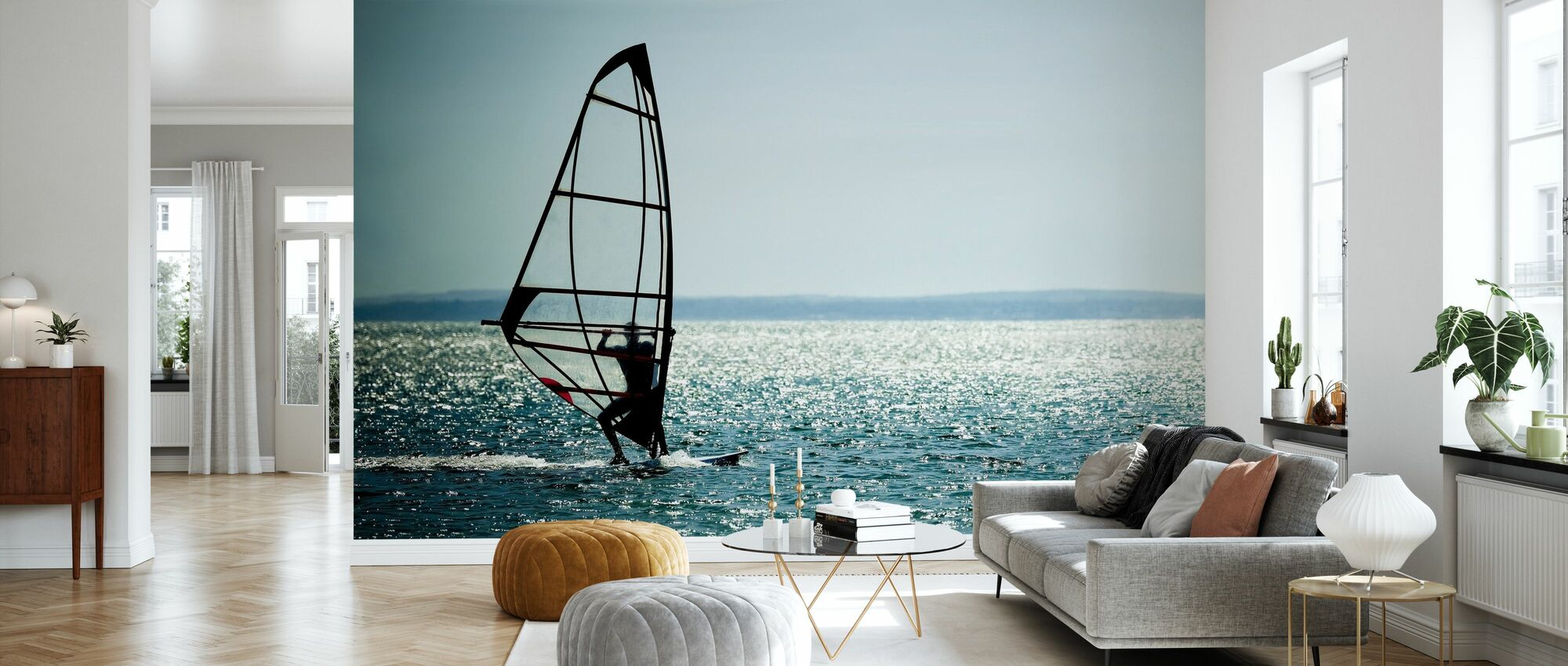 Windsurfer Panorama - Wallpaper - Living Room