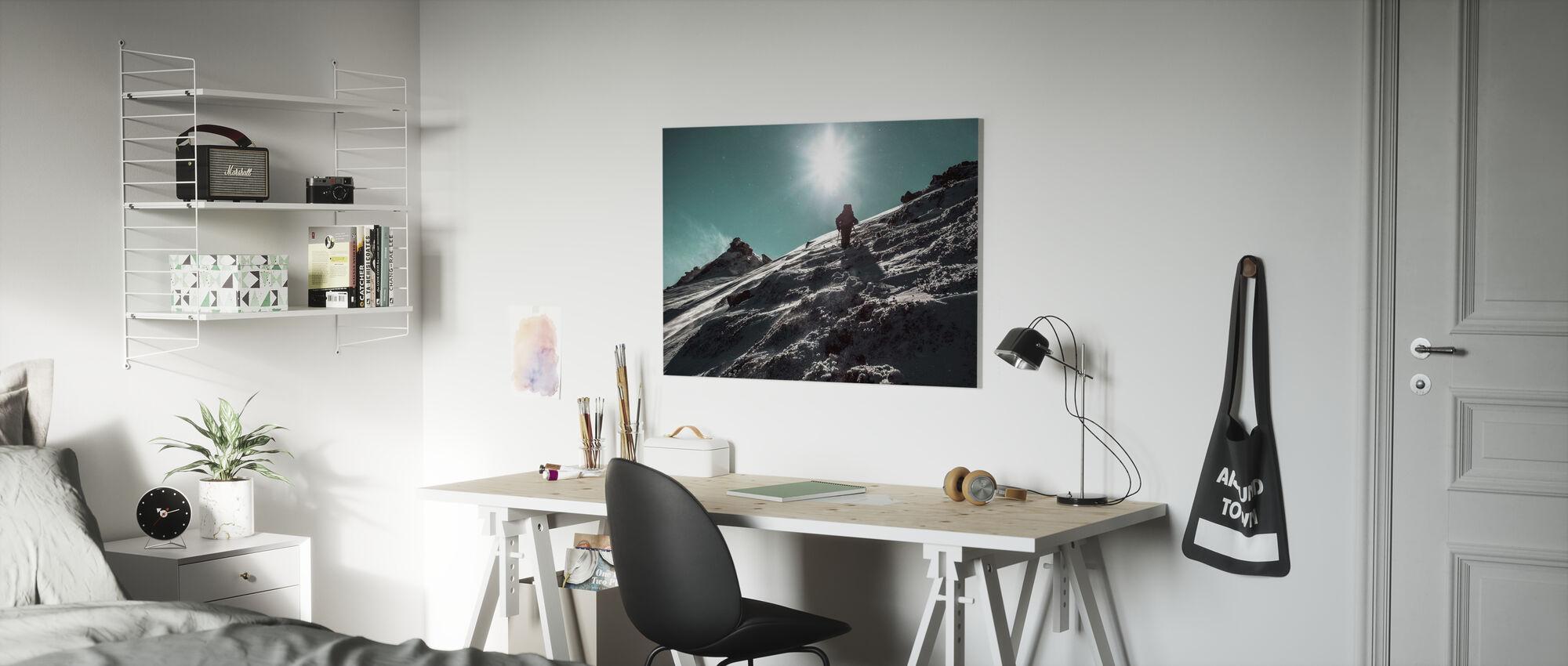 Winter Hike - Canvas print - Kids Room