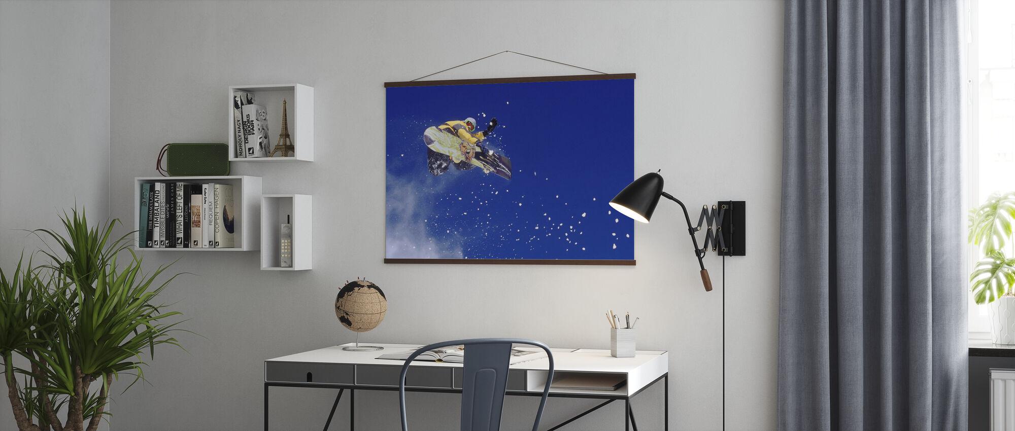 Airborne Snowboarder - Poster - Kantoor