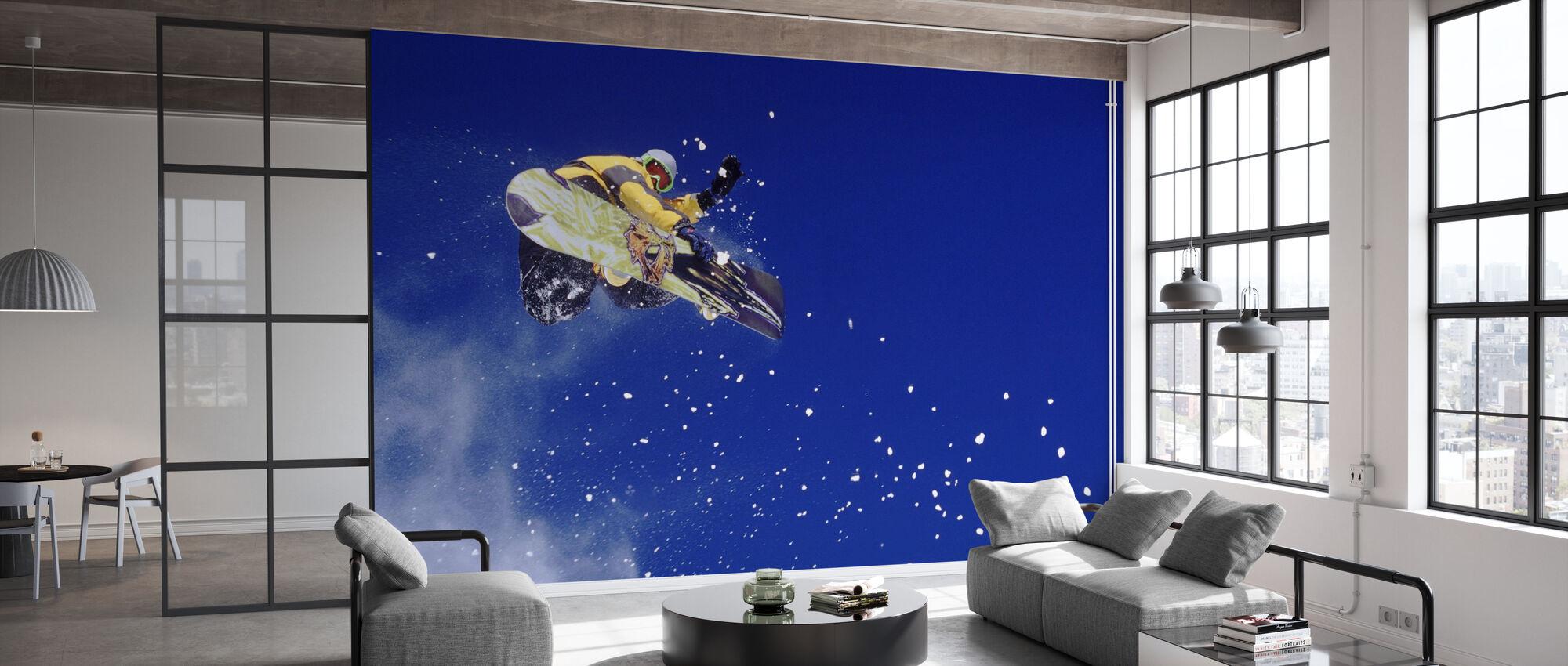 Airborne Snowboarder - Wallpaper - Office