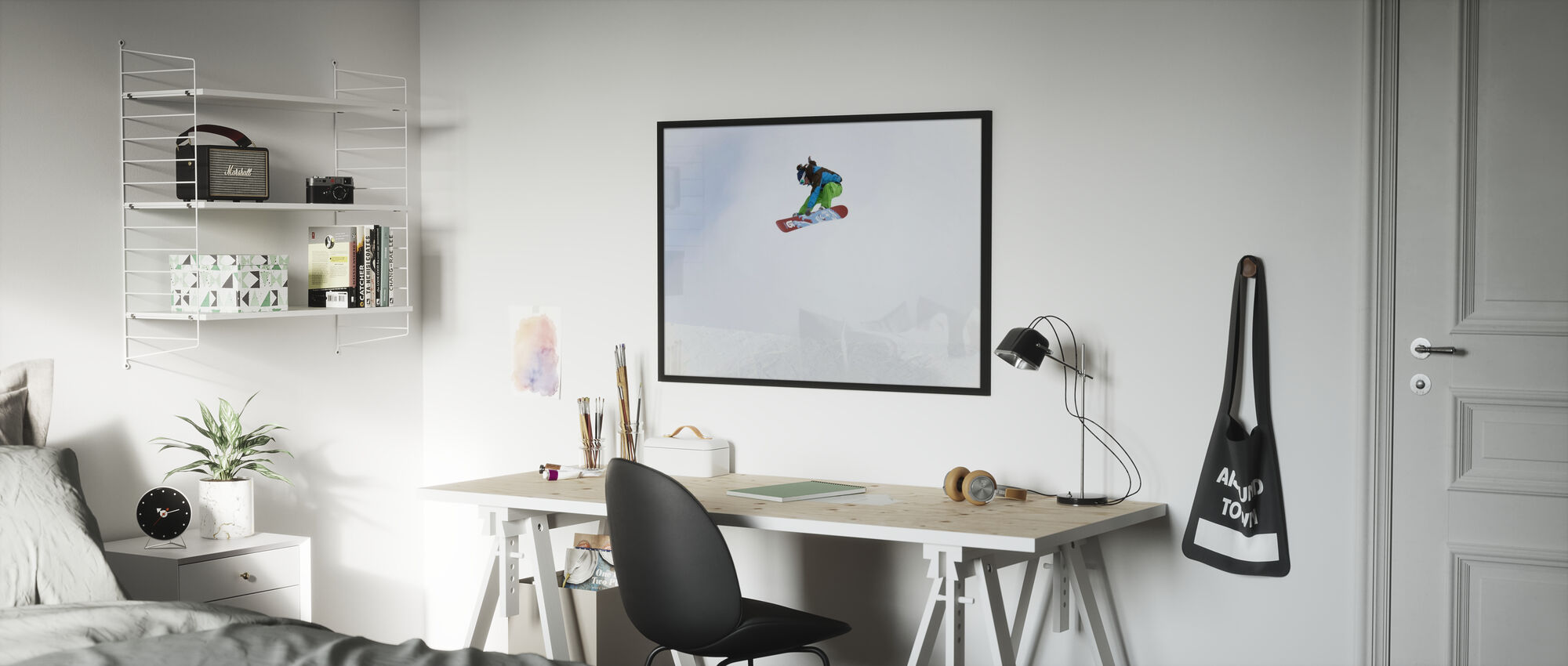 Høy Air Snowboarding - Innrammet bilde - Barnerom