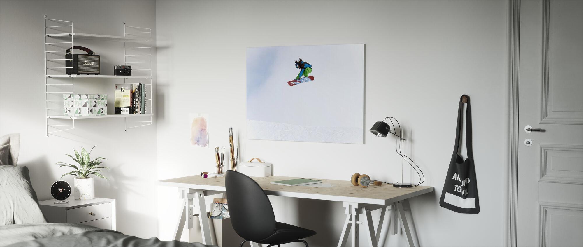 High Air Snowboarding - Canvas print - Kids Room