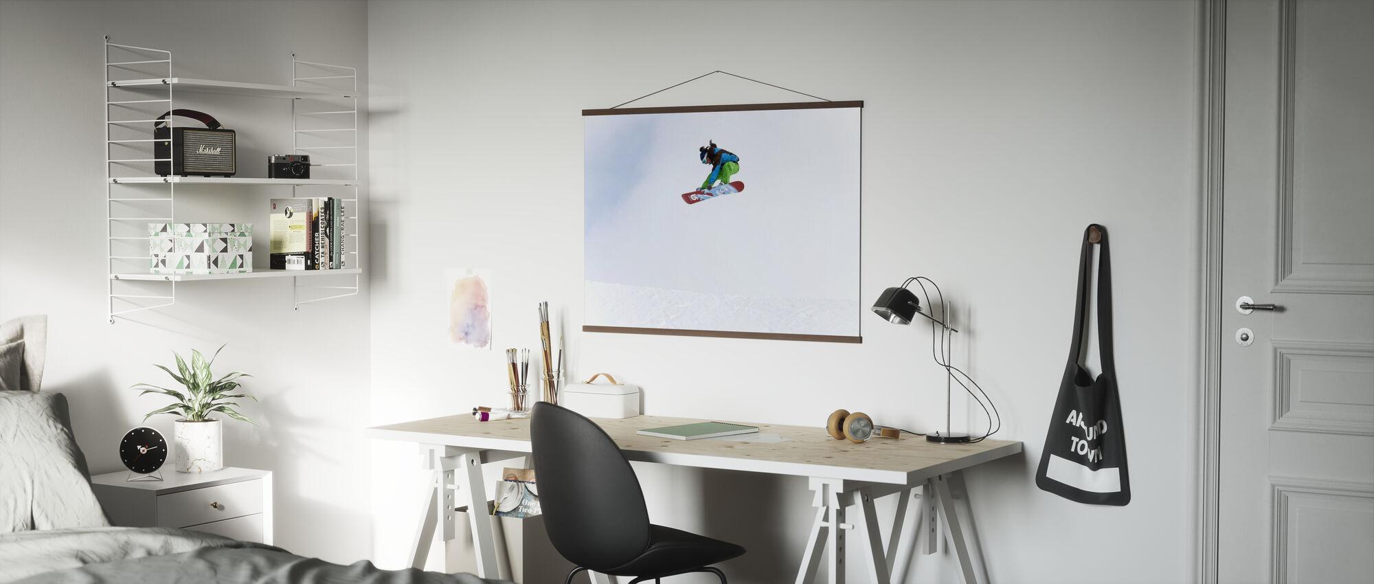 High Air Snowboarden - Poster - Kantoor