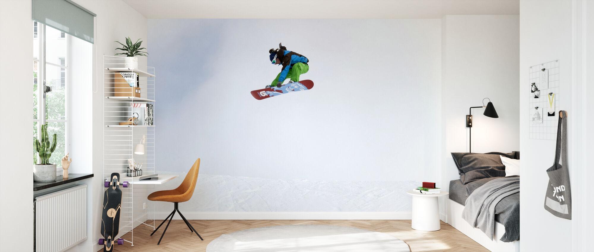 High Air Snowboarden - Behang - Kinderkamer