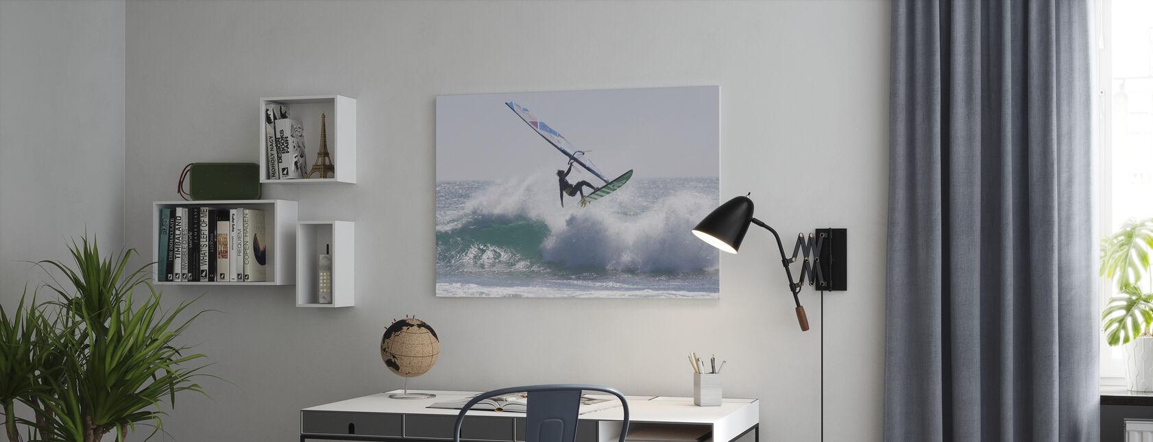 Windsurfing Jump - Canvas print - Office