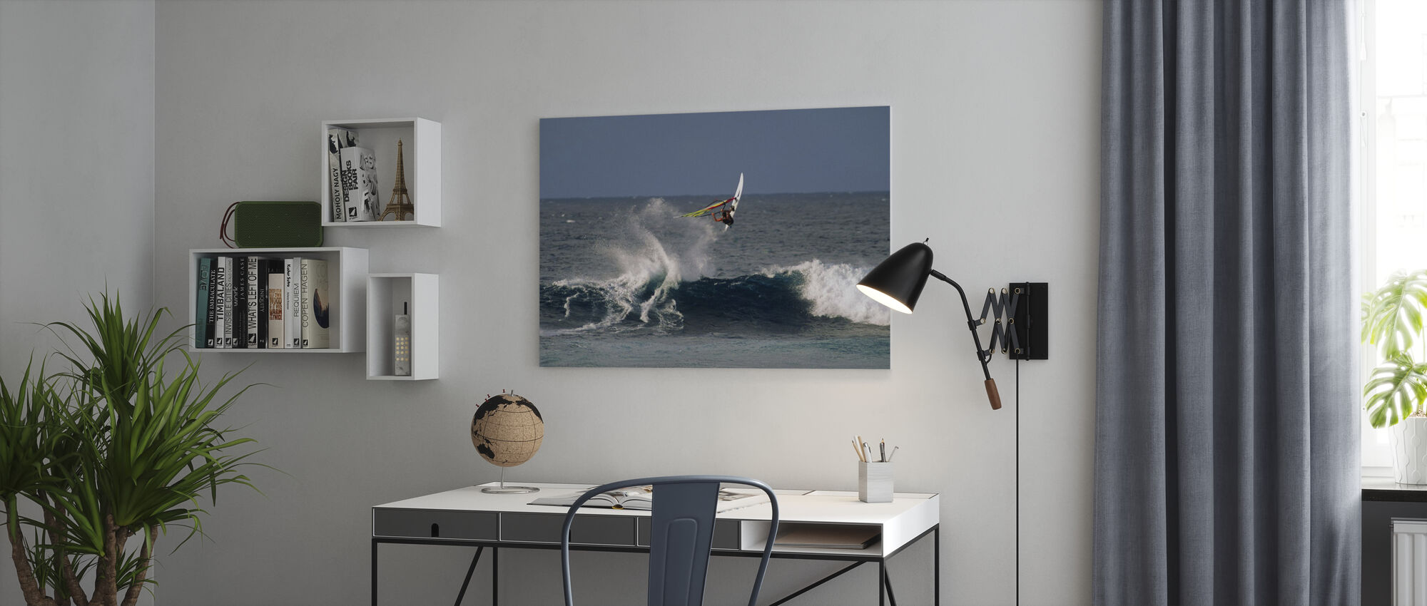 Windsurfer at Hookipa Beach Park - Canvas print - Office