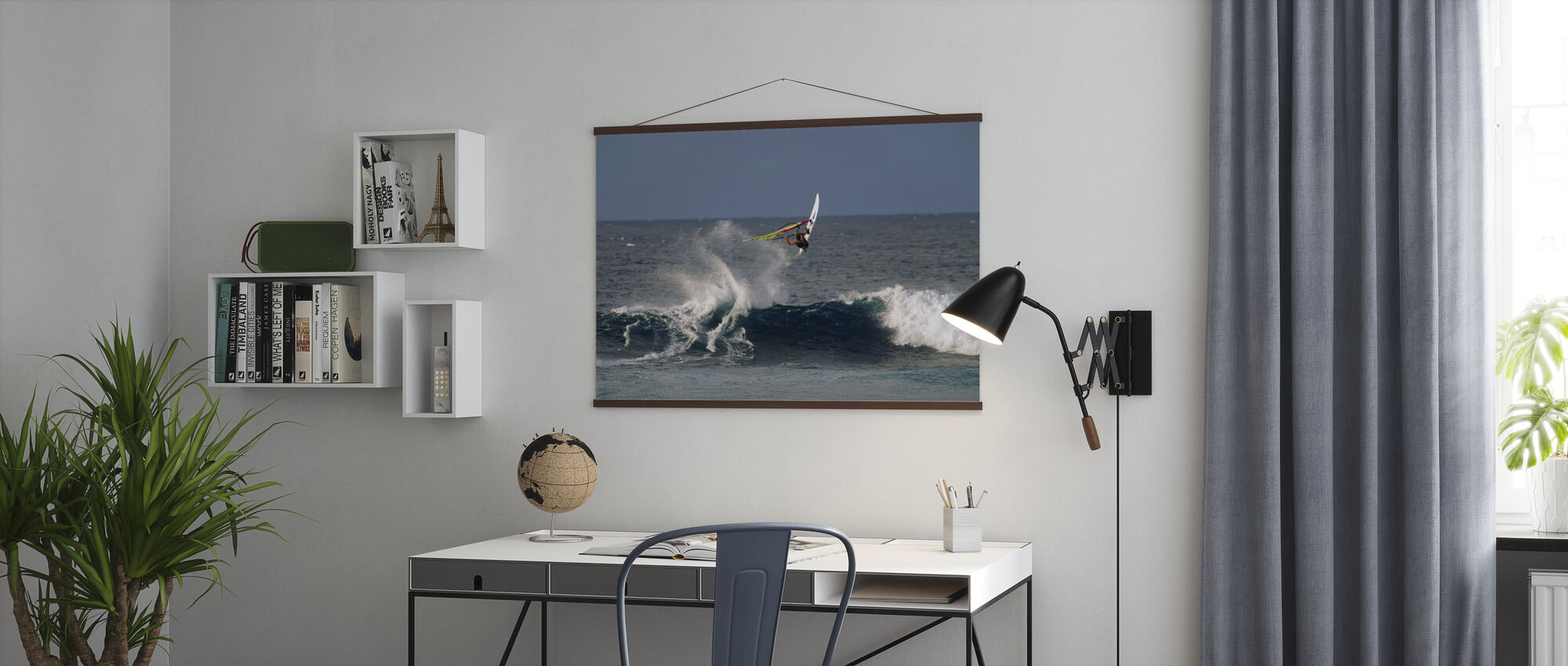 Windsurfer at Hookipa Beach Park - Poster - Office
