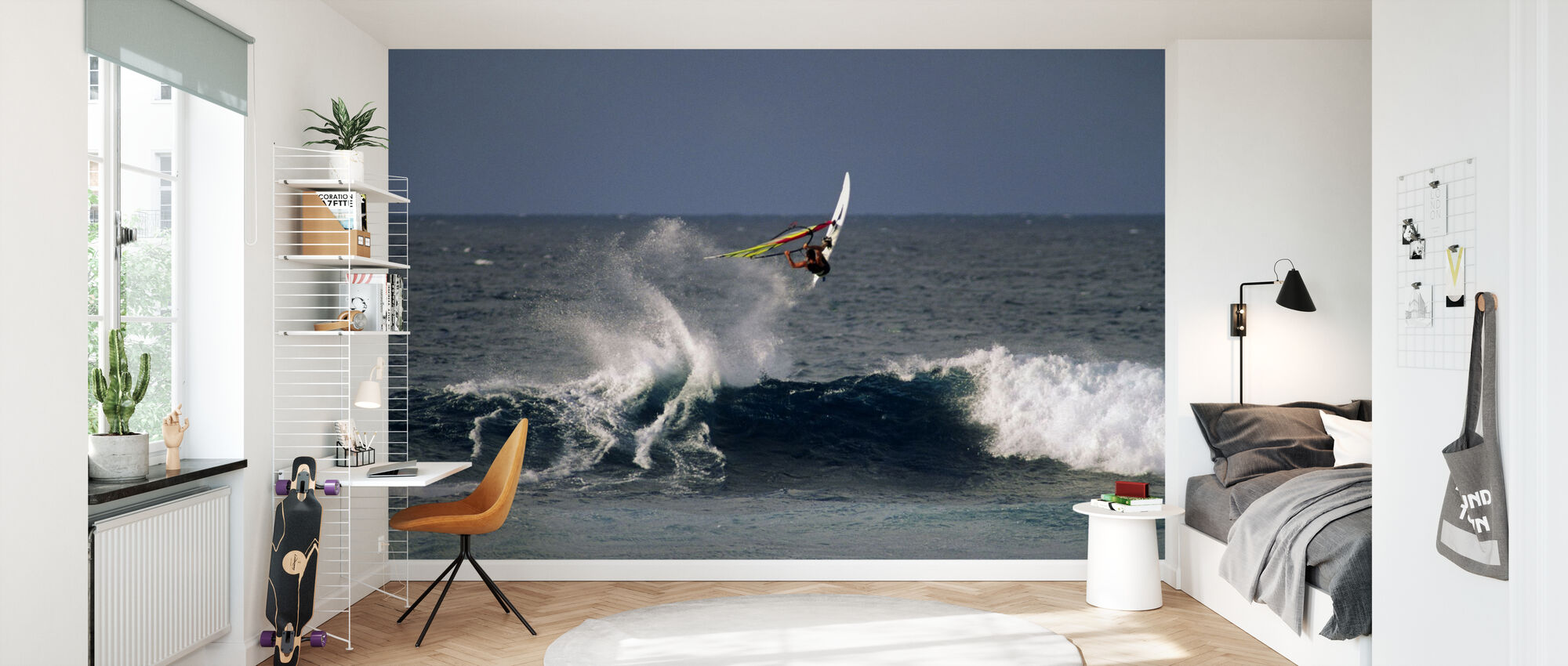 Windsurfer at Hookipa Beach Park - Wallpaper - Kids Room