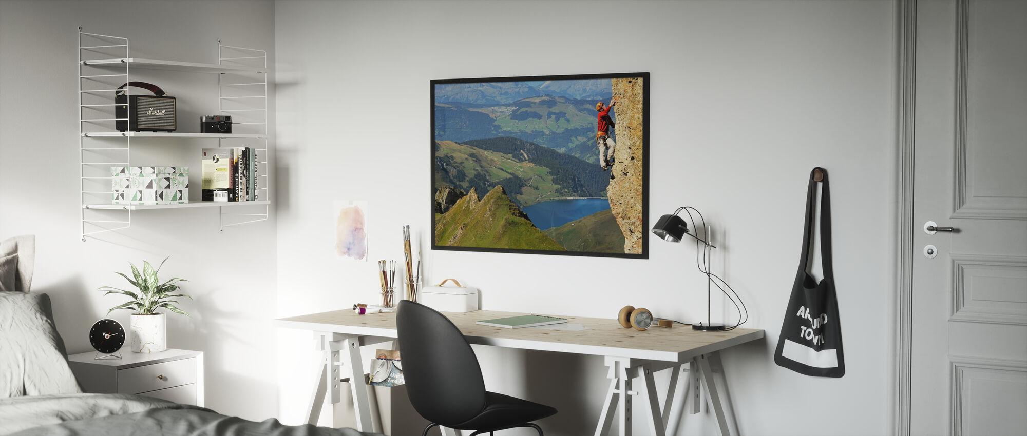 Rock Climbing in Pierra Menta - Poster - Kids Room
