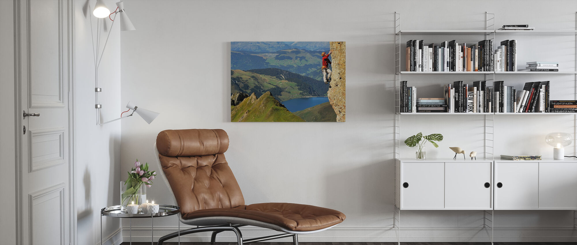 Rock Climbing in Pierra Menta - Canvas print - Living Room