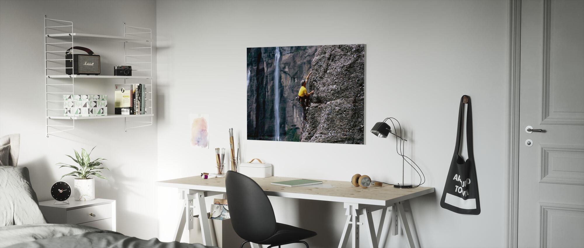 Rotsklimmen bij bruidssluier Falls - Canvas print - Kinderkamer