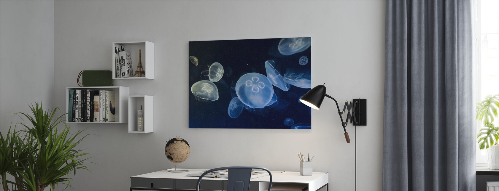 Drijvende kwallen - Canvas print - Kantoor