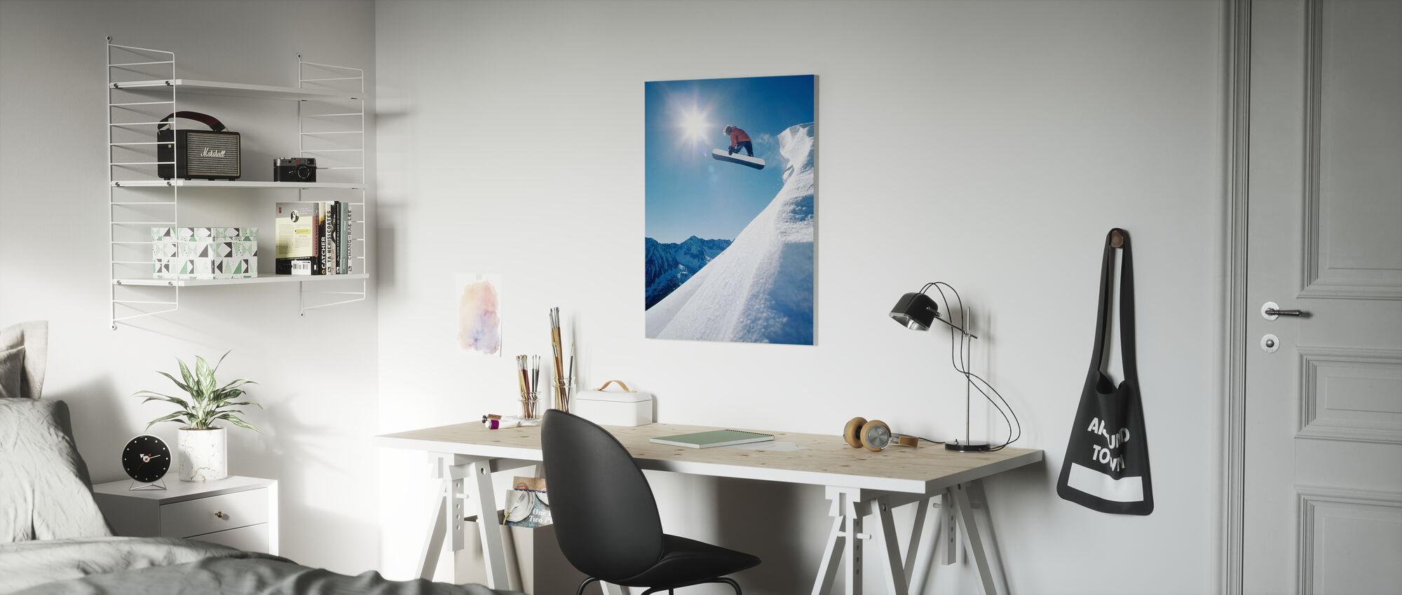Snowboard Grab - Canvas print - Kids Room
