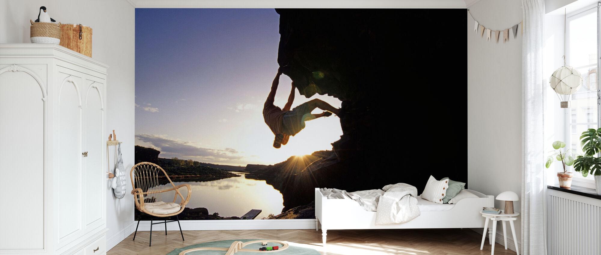 Bouldering in Twin Falls - Wallpaper - Kids Room