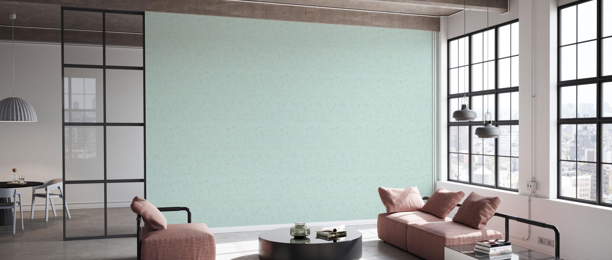 Retroline Mint - Wallpaper - Office