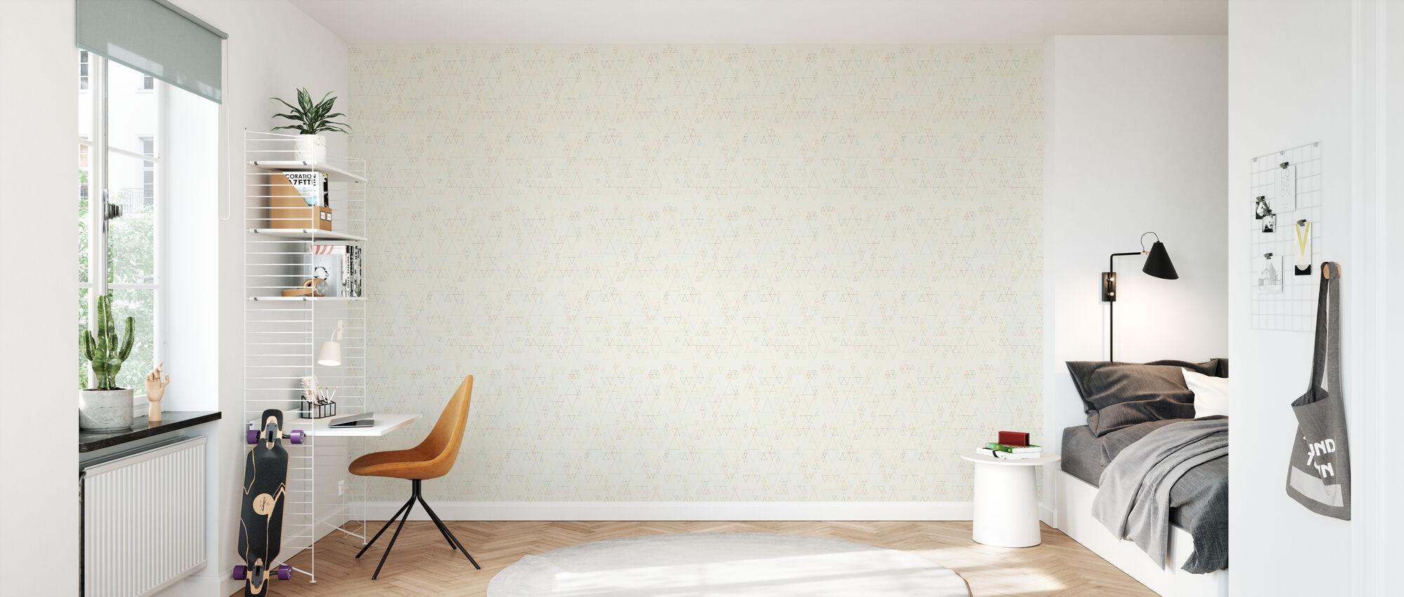Retroline Offwhite - Wallpaper - Kids Room