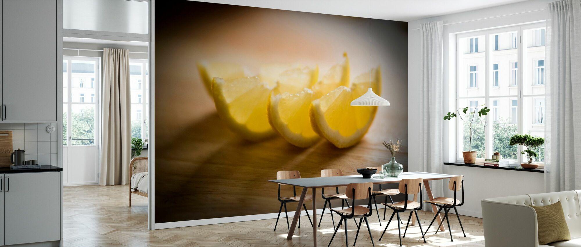 Frisch geschnittene Zitrone - Jesús Sierra - Tapete - Küchen