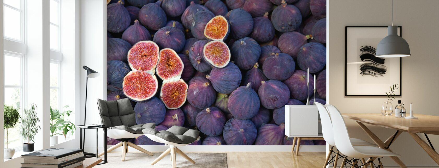beautiful Figs - Wallpaper - Living Room