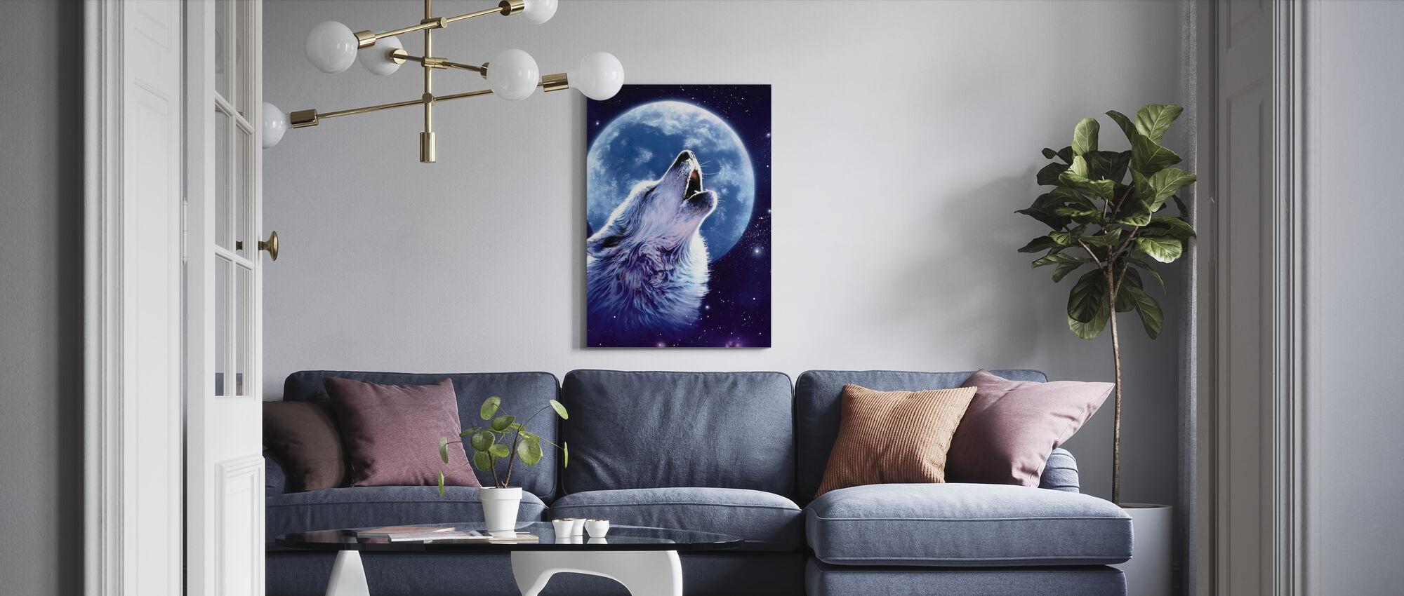 Oproep van het wild - Wolf - Canvas print - Woonkamer