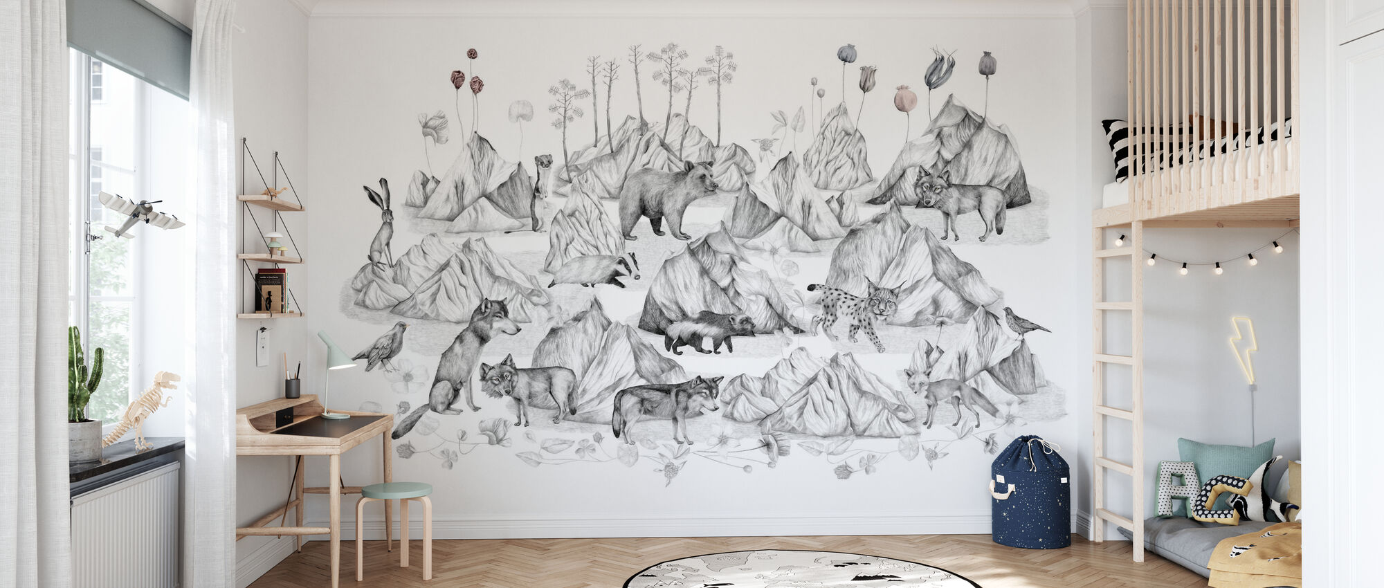 Free in My Landscape - Wallpaper - Kids Room