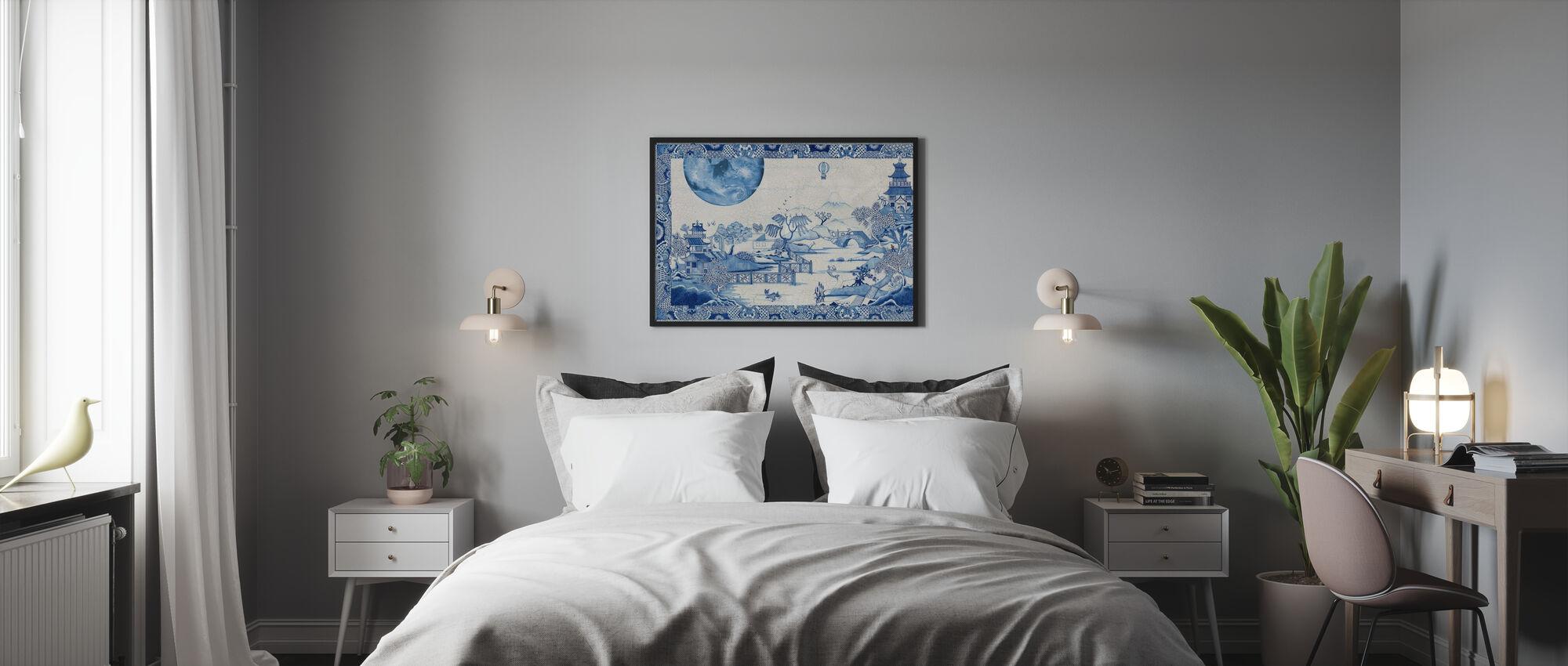Blue Moon Crazed - Innrammet bilde - Soverom