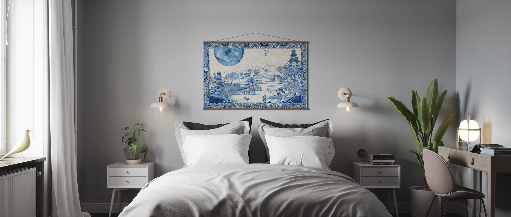 Blue Moon Crazed - Poster - Bedroom