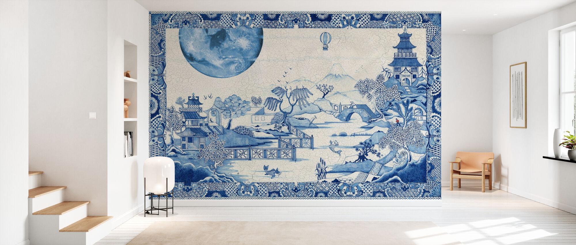 Blue Moon Crazed - Wallpaper - Hallway