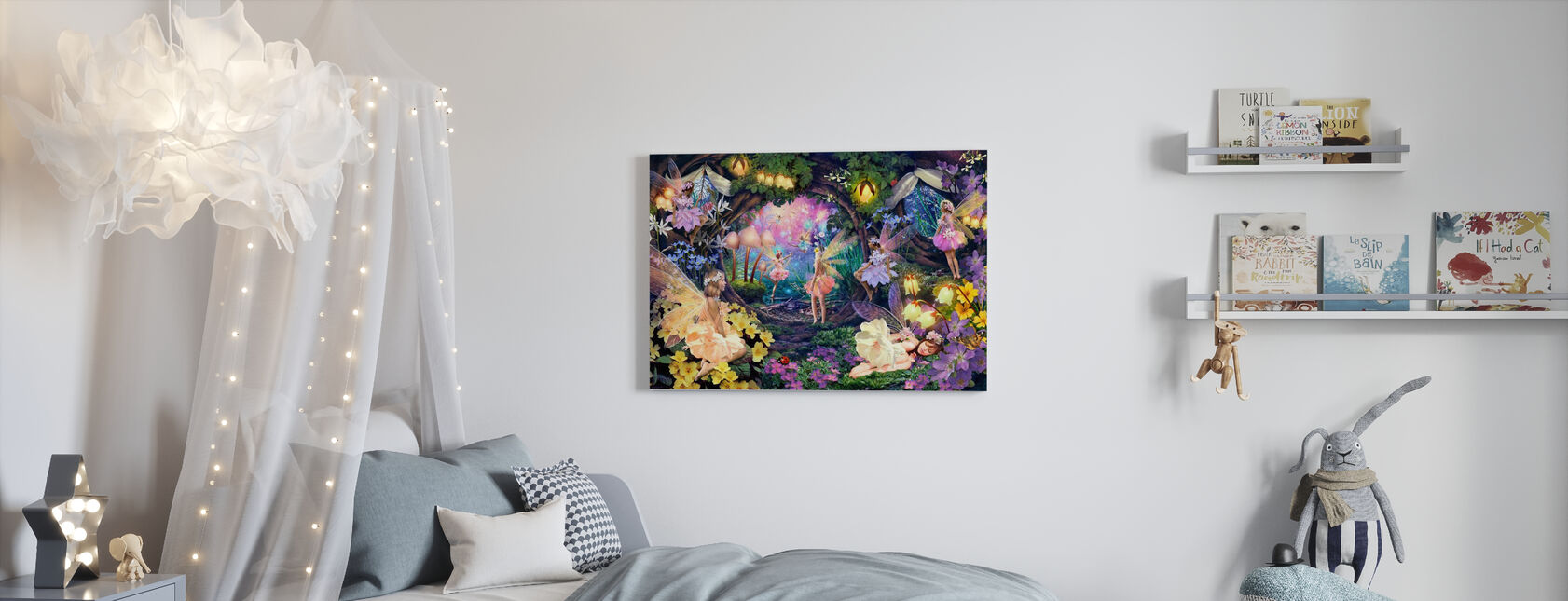 Fairy Hollow - Canvas print - Kids Room