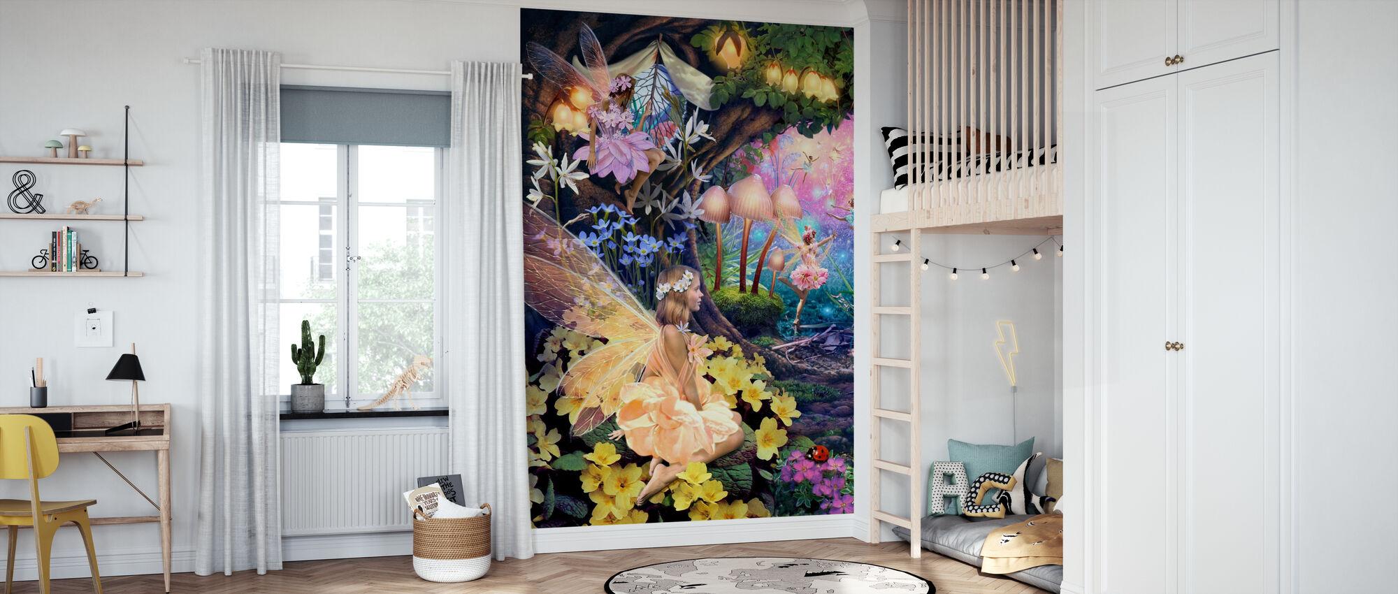 Fairy Hollow 2 - Wallpaper - Kids Room