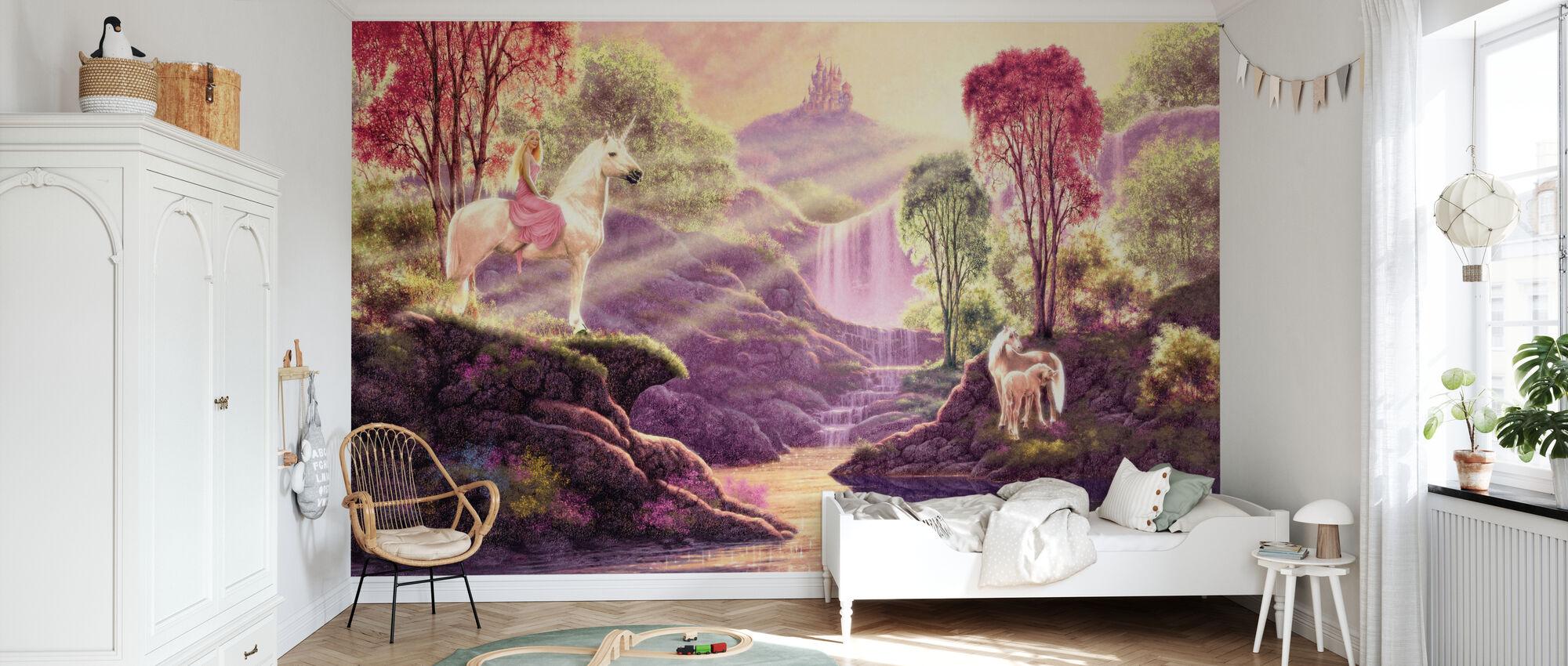 Vallée secrète - Papier peint - Chambre des enfants