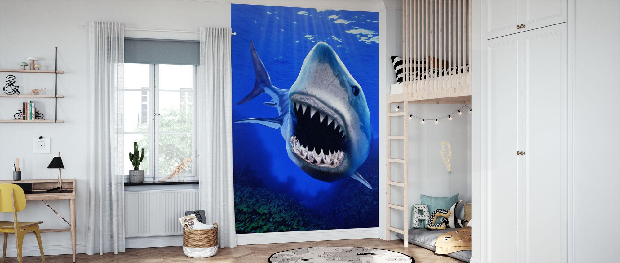 Shark Attack - Wallpaper - Kids Room