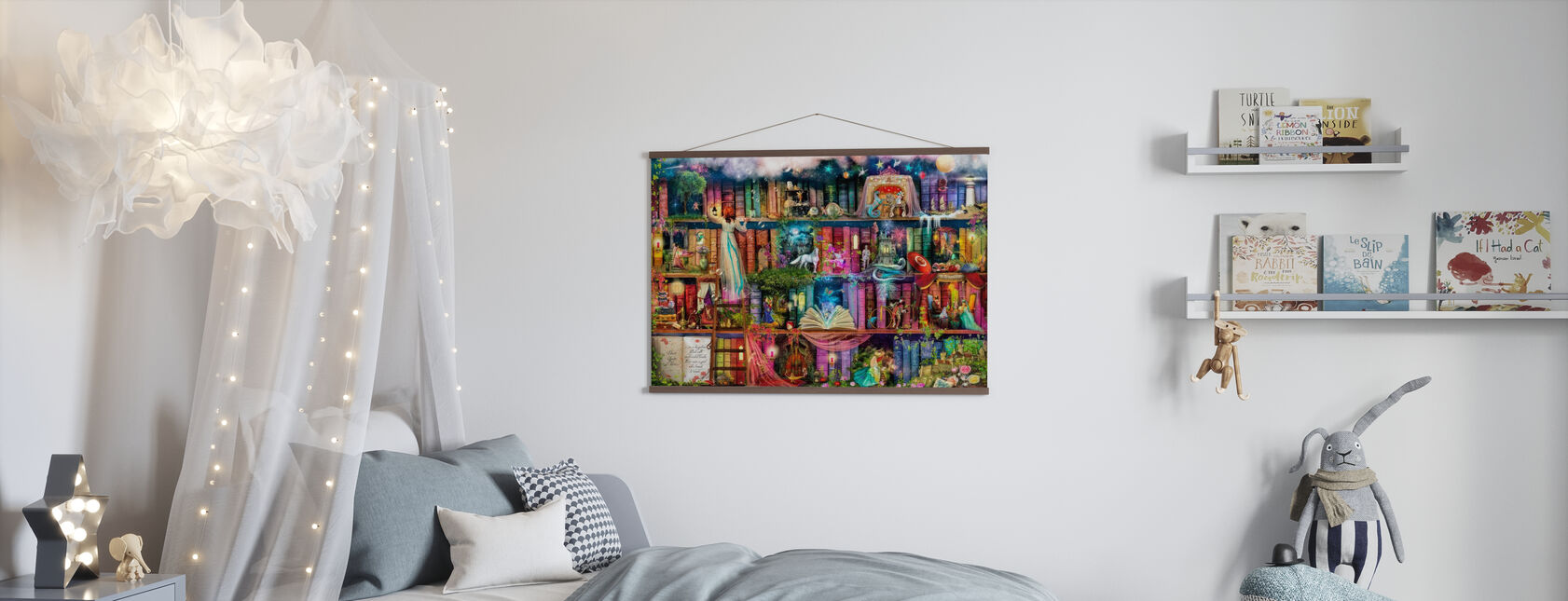 Treasure Hunt Book Shelf - Poster - Kids Room