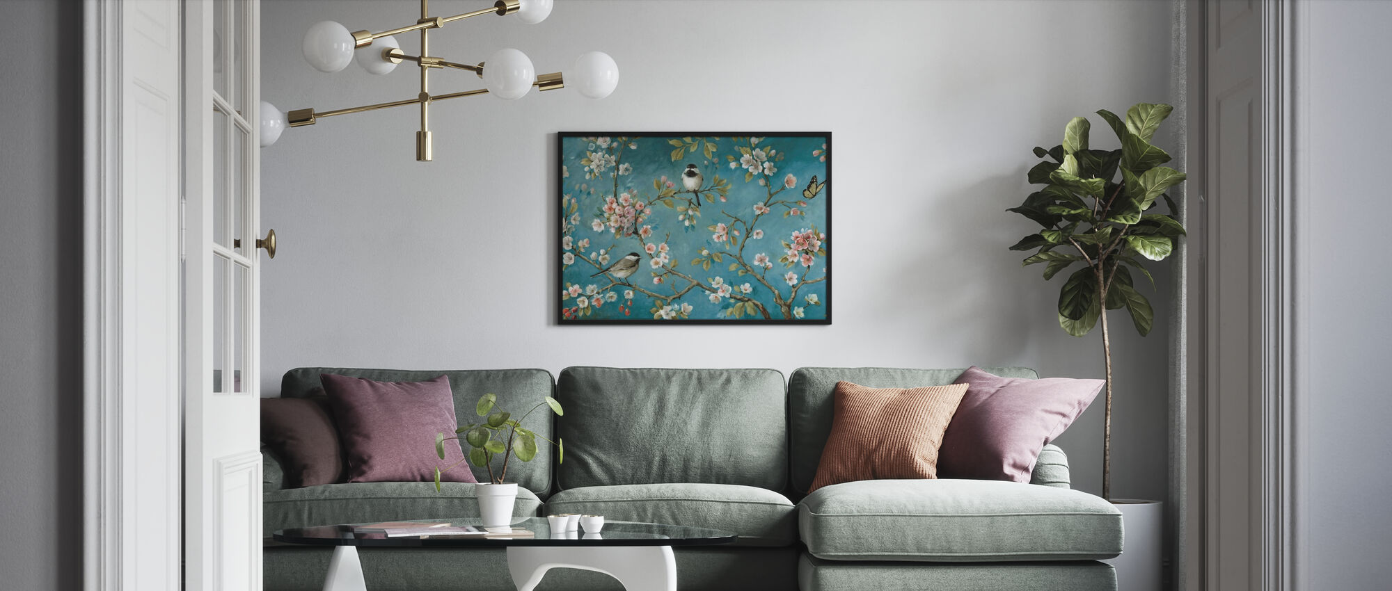 Kukkiva - Kehystetty kuva - Olohuone