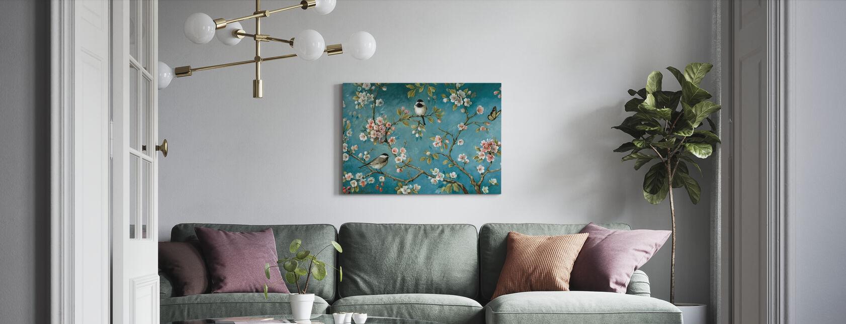 Blomma - Canvastavla - Vardagsrum